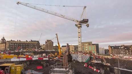 CTL 1600-66 tower crane at Edinburgh St James