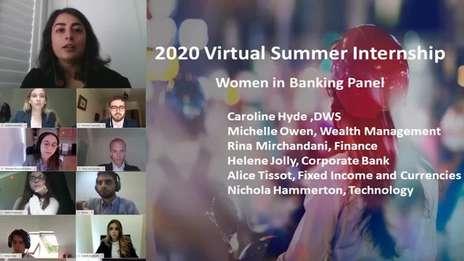 Virtual Summer Internship Programme 2020 - Sessions and DB team