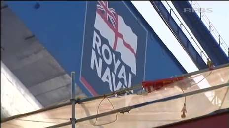 Royal Navy aircraft carrier nears completion