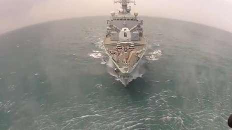 HMS Monmouth returning home