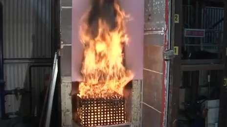 External Cladding Fire Test