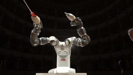 ABB's robot YuMi takes center stage in Pisa, conducts Andrea Bocelli and Lucca Symphony Orchestra