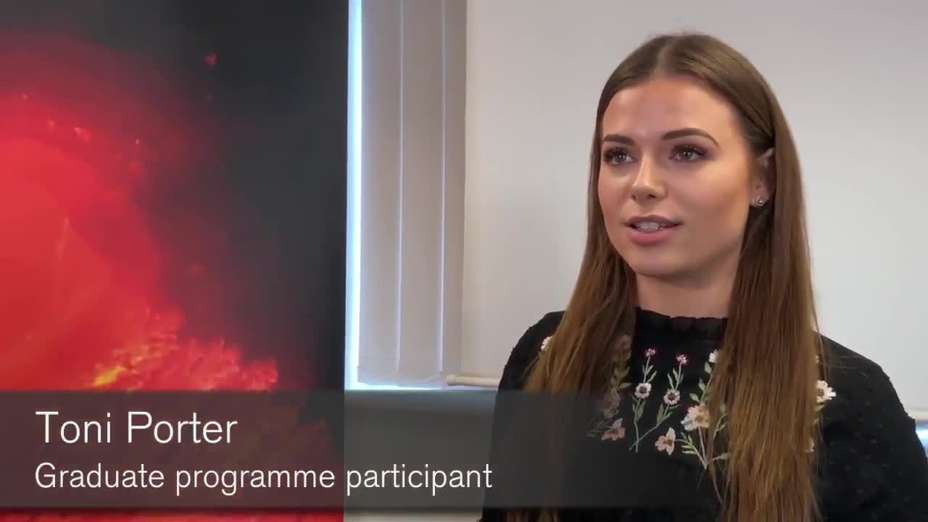 Toni Porter - Graduate programme participant